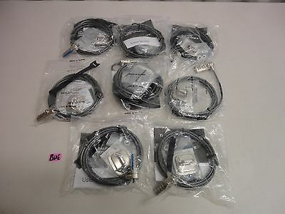 Lot Of 8 Targus Notebook Security Defcon Cl Combo Cable Lock Pa4105-25-60 Bue