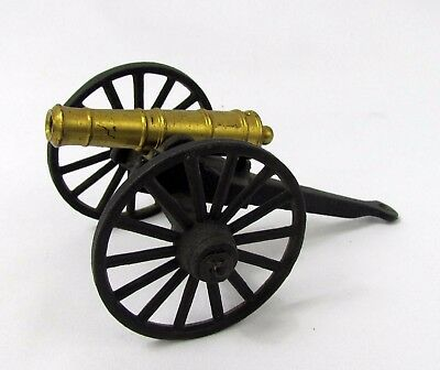 Vintage Cast Iron Miniature and Brass Field Artillery Cannon MFCO Civil War