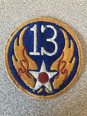 WWII ORIGINAL 13TH AIR FORCE PATCH Southwest PACIFIC Theater