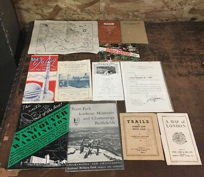 Lot of Various Vintage Traveling Brochures and Related Maps/Items #1