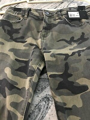 Miss Me Signature Camo Skinny Ankle Jeans Sz 27 M2024AK Faded Green Camo NWT $89