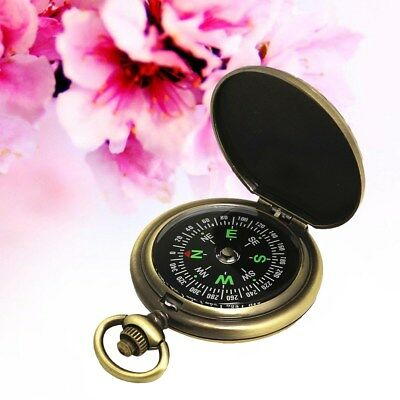 Vintage Delicate Fashion Retro Compass Pocket Watch Adventure Compass for Hiking