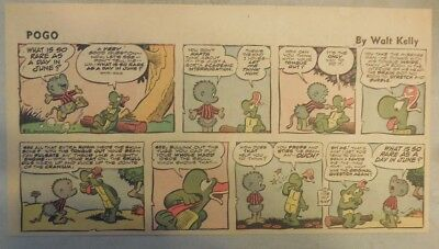 Pogo Sunday by Walt Kelly from 6/1/1958 Third Page Size!