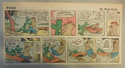Pogo Sunday by Walt Kelly from 4/20/1958 Third Page Size!