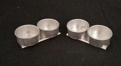 """2 Double Metal Palette Cups w/ bottom clips for Palette: 2"""" Diameter New: Japan"""