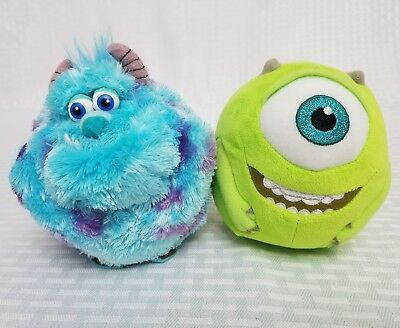 61f842279ee Disney Pixar Monsters Inc Sulley and Mike TY Beanie Ballz Plush Lot of 2 EUC