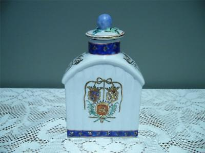 Vintage Chinese Export Armorial Tea Caddy - Very Good Condition