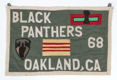 Rare Black Panthers Textile Banner Lot 682