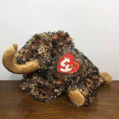 Ty Beanie Baby Giganto Wooly Mammoth - Plastic Protective Cover Tag Retired 2001