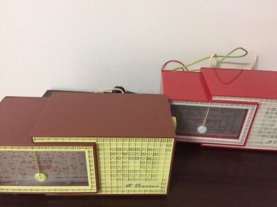 Fabulous - Retro  X 2 Stc 1950' Red And Chocolate Box In Box Radio's- Both Work