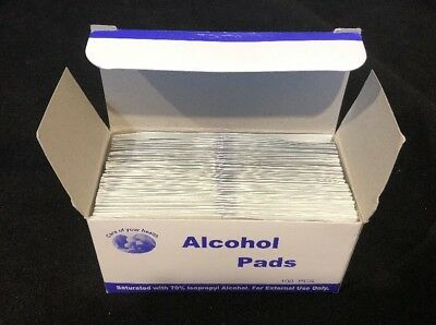 100 Alcohol Pads Wipes Isopropyl Nails Suitable For Jamberry Wraps Clean No Box