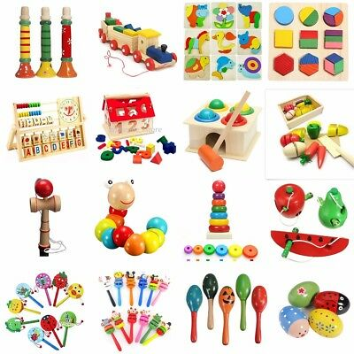 Kids Baby Educational Children Intellectual Wooden Toy Birthday Christmas Gift