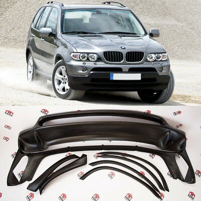 BMW X5 E53 4.8is style full BODYKIT front rear spoiler wheel arches 2003-2006