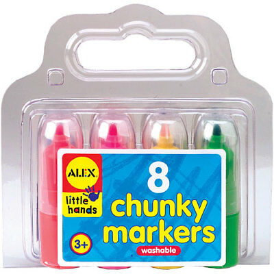 NEW ALEX Little Hands Chunky Washable Markers Textas Texta - 8 piece set