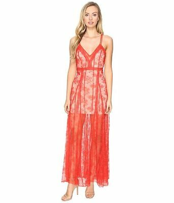 c6e4c3a266 NEW Alice McCall I See You Maxi Dress Red Floral Lace Size 6 AU 2 US