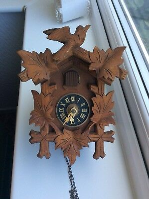 Vintage German Black Forest Cuckoo Clock 1973