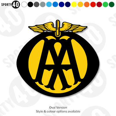AA Sign Vintage - Cut Vinyl Decal - Car Motorcycle Heritage Classic Replica AA