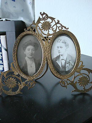 Superb, Rare, Art Nouveau, English Fully Marked Brass Photo Frame