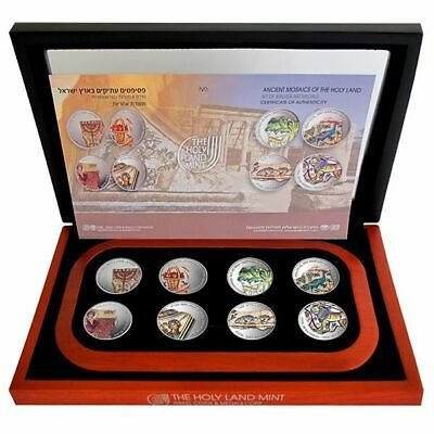 Ancient Mosaics of the Holy Land - Set of 8 Silver. 999 , 1oz, 38.7mm 2013
