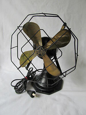 "Antique Fitzgerald STAR RITE 832 SI 8"" Electric Table Fan. Needs Repair"