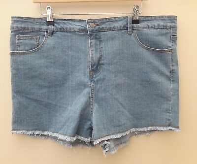 BOO HOO, Ladies Maternity Summer Denim High Waist Shorts, Size 16, New With Tags