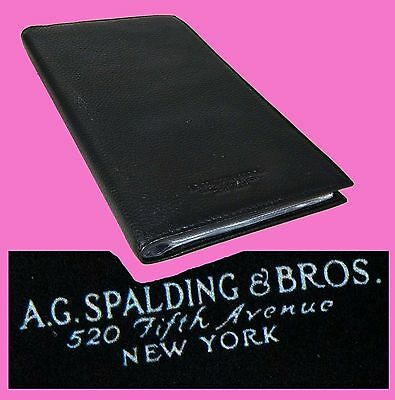 A.G.Spalding & Bros Fifth Ave. NY leather pelle leder B.card wallet valextra map