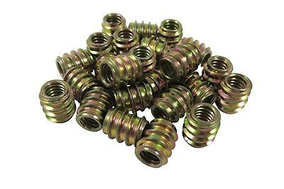 8-32 Threaded Inserts, 25 Pack Allow Steel, Zinc Plated 468624 Taytools