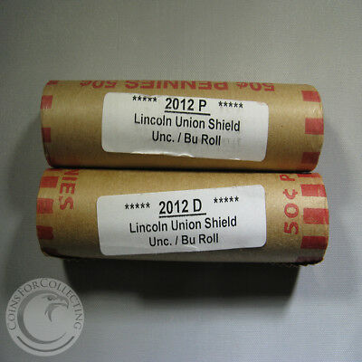 2012 P&d Obw Lincoln Union Shield Unc/bu Rolls Out Of Bank Boxes