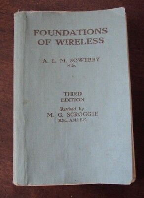 """Vintage book """"Foundations of Wireless"""" by A.L.M. Sowerby. 1942"""