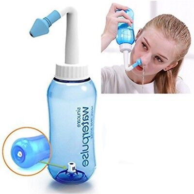 Douche Irrigation nasale Sinus rinse Lavage Neti Pot Lavage de Nez (300 ML)