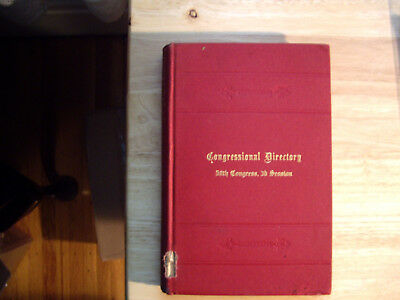 Official Congressional Directory Fifty-Eighth Congress 1904 First Edition