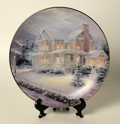 Winter Memories Collector Plate Kinkade Bradex LE Numbered