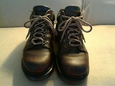 Dr. Martens Brown Leather Air Wair Boots Mens Size 6 Made in England