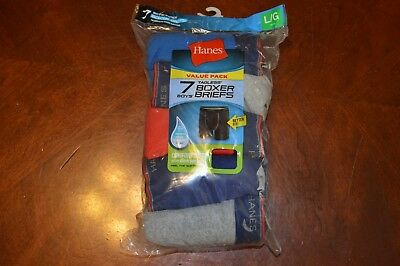 Brand New in Package  Hanes Boys Boxer Briefs 7 Pair Size L 14-16