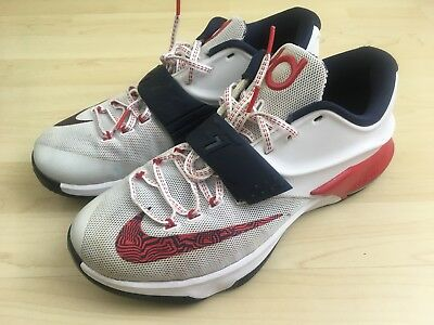850b7746524 get nike zoom soldier vii custom c1fae 4f4f4  inexpensive nike kd 7 usa  olympic shoes mens size 10.5 uk 9.5 uk red white blue