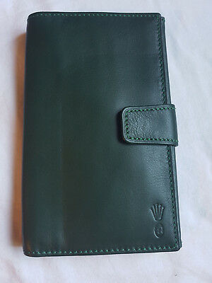 Portefeuille En Cuir  Rolex. Rolex Green Leather Wallet.