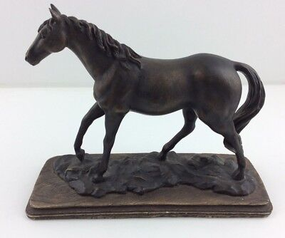 Beautiful Antique Vintage Sculptured Horse Figure, Bronze Effect,