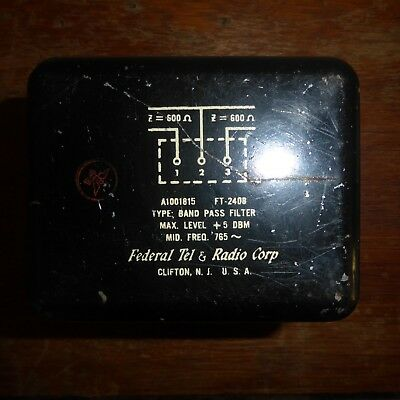 Federal Telephone & Radio Corporation Band Pass Filter A1001815 FT-2408