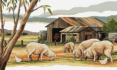 Sheep Shed - Counted Cross Stitch Chart from Country Threads