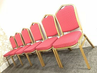 6 x Brand New Banqueting Chairs. Blue And Red Available - Stackable Chairs