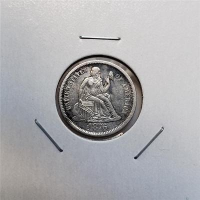 1876-S Liberty Seated Dime -Cherrypickers RPD FS-301 -Nice Looking Piece