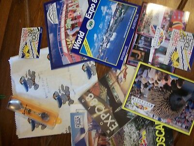Official Licensed World Expo 88  Spoon/postcards/Posters/booklets/tickets