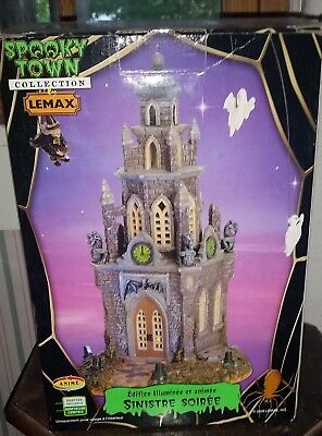 Lemax Spooky Town *Retired* 65345 Spooky Time Lighted & Animated Tower