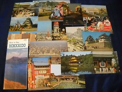 """""""How to See Hokkaido"""" & 17 Unposted Vintage Postcards of Japan"""