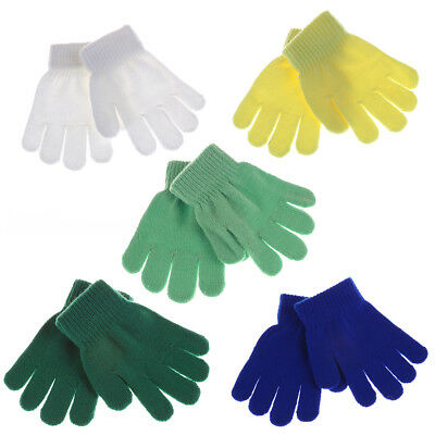 Kids Gloves Knitted Stretch Mittens Solid Girls Gloves Full Finger Glovegit MD
