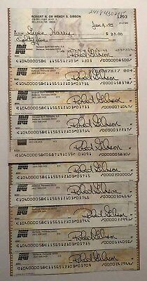 Bob Gibson Signed Cancelled Check St. Louis Cardinals HOF Autographed Auto