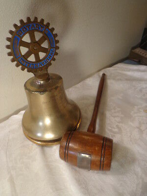 1932 Rotary Club Large Brass Bell & Gavel Dayton Oh. to West Carrollton Oh.