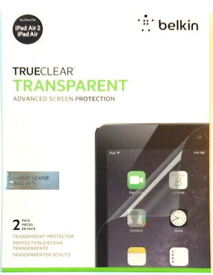 Belkin TrueClear Transparent Screen Protector for iPad Air 2 (2 pack) F7N262BT