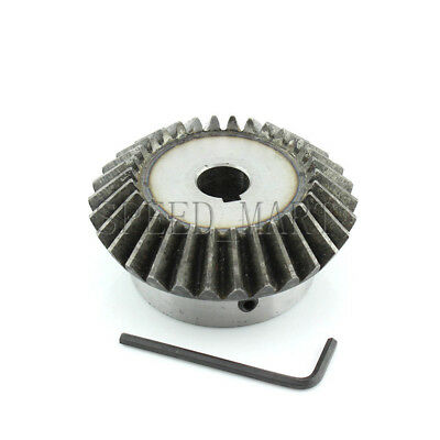 2.5M30T Metal Umbrella Tooth Bevel Gear Helical Motor Gear 30 Tooth 28mm Bore