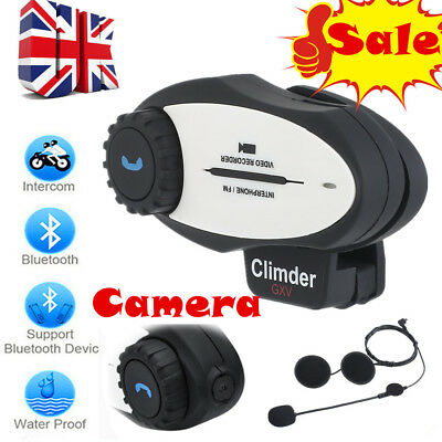 Motorcycle Bluetooth Helmet Interphone Recorder Camera FM Headset MP3 Radio 720P
